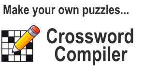 Crossword puzzle maker software