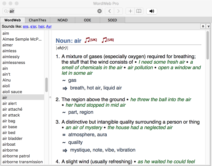 how to use thesaurus in word on mac